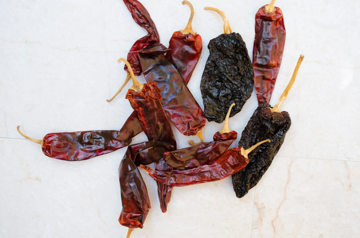 chiles para chorizo