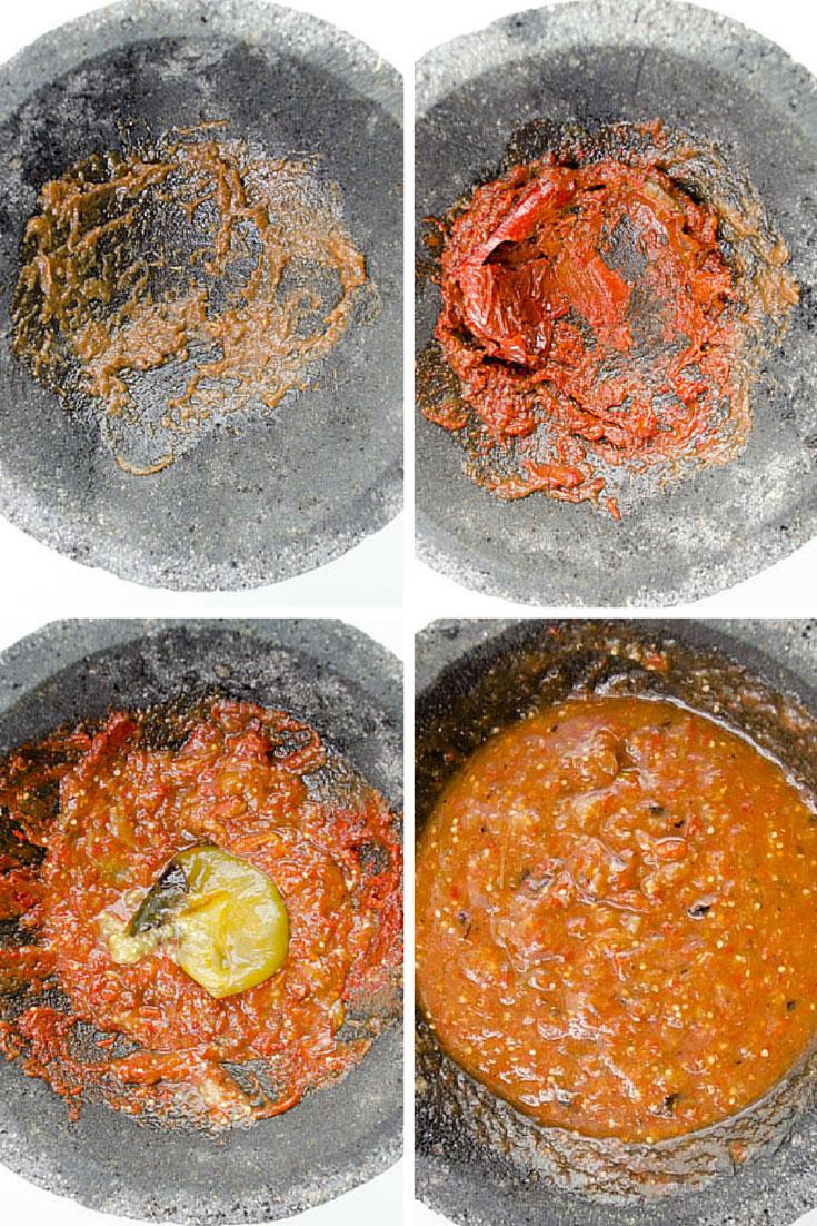 Salsa de chile morita
