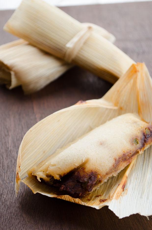 Tamales de Papas Adobadas
