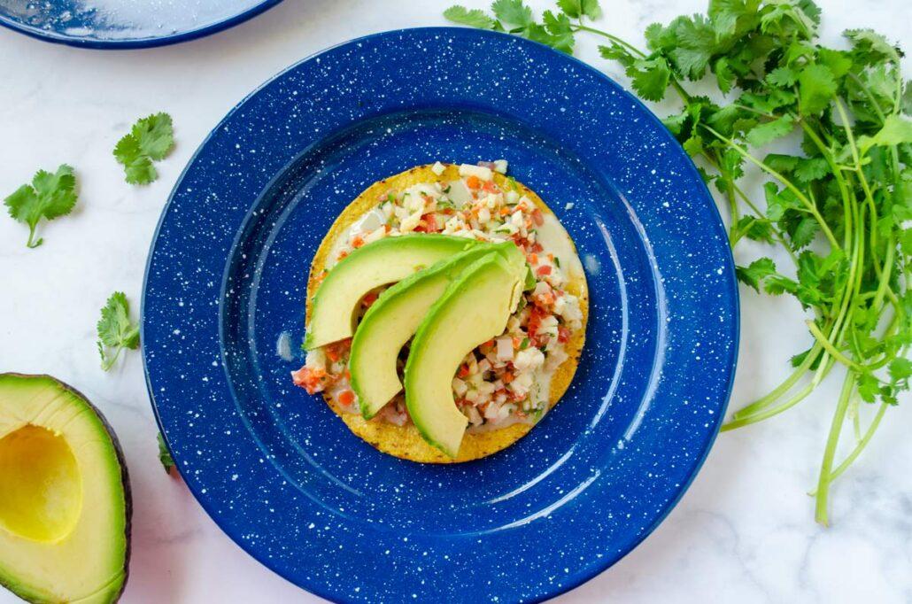 Ceviche vegano estilo Baja
