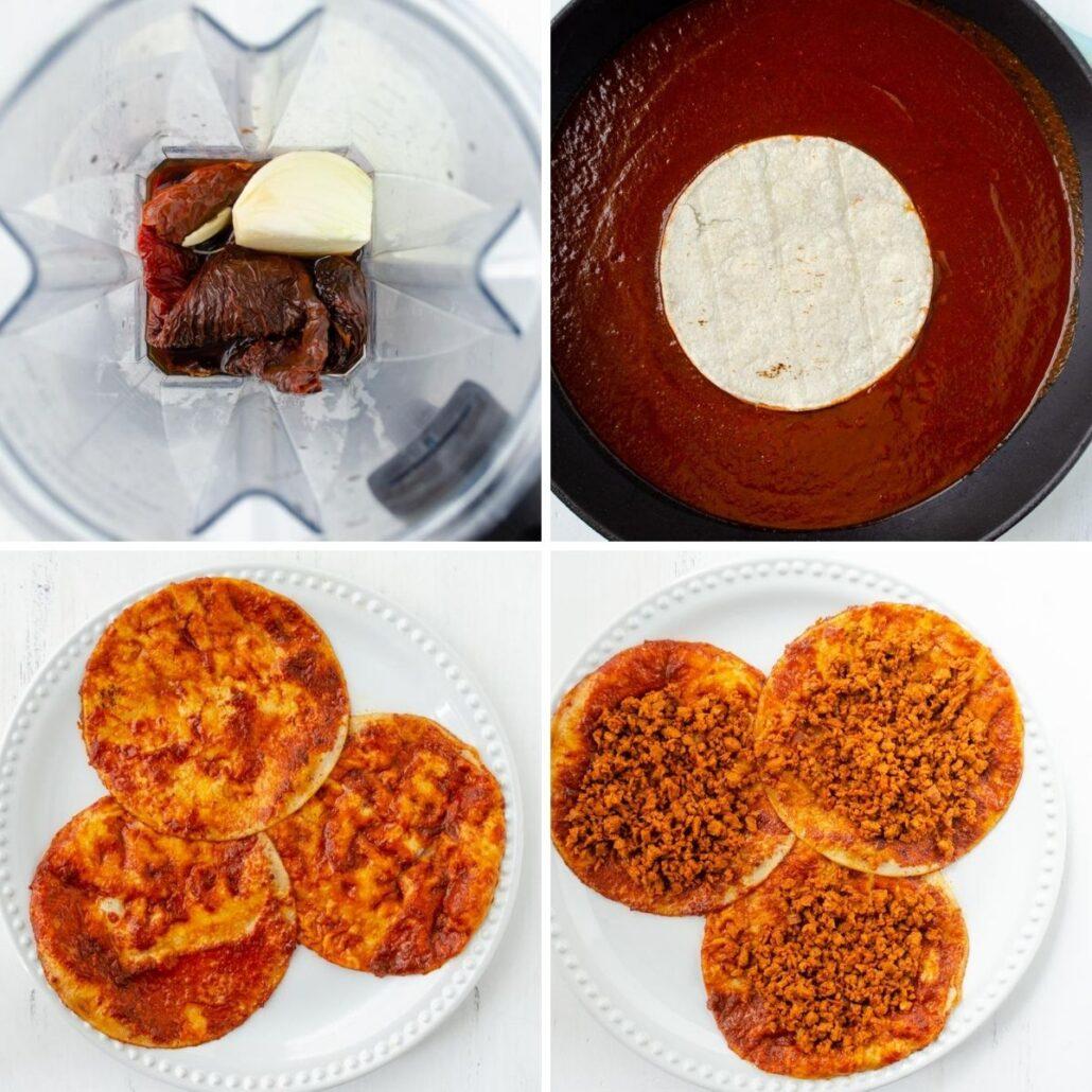 Adobo enchiladas veganas