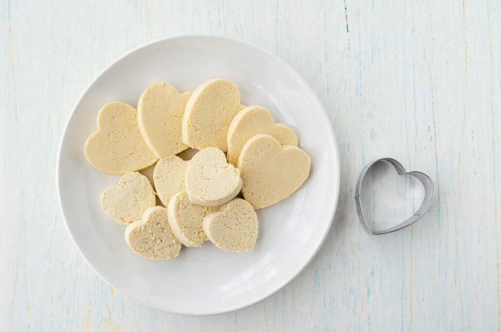 Nuggets de tofu en forma de corazón