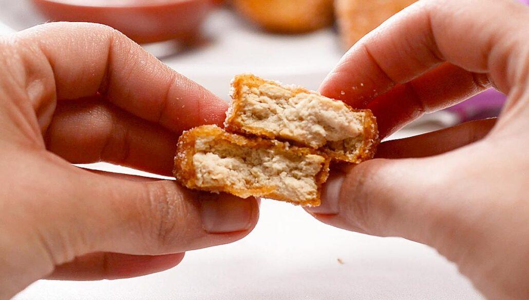Textura nuggets de tofu